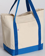 Ctb Canvas Tote Bag Top Cordura Bottom With Matching Wrap Around Nylon Webbing Handles Flat Pocket On Front Red Blue Black